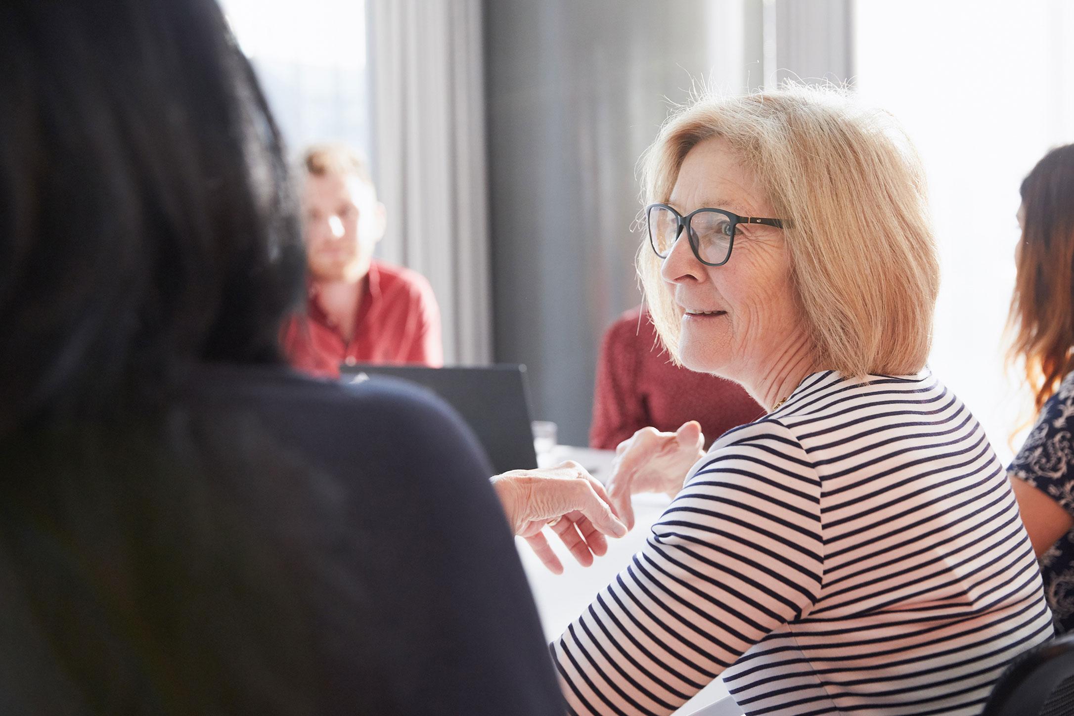 staff speaking round table